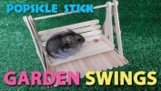 Garden swings for Hamsters Popsicle stick craft